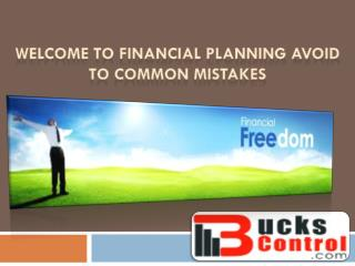 Financial Planning Avoid to Common Mistakes
