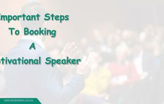 5 Steps To Book A Motivational Speaker
