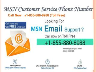 Msn Email Support| 1-855-880-8988 | Msn Email Tech Support