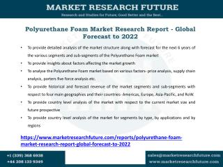 Polyurethane Foam Market Key Players, Applications, Size, Share, Industry Development, Segments to 2027