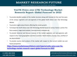 VoLTE (Voice over LTE) Technology Market Key Players, Applications, Size, Share, Industry Development, Segments to 2027