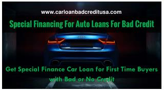 How To Get Special Auto Financing For Bad Credit