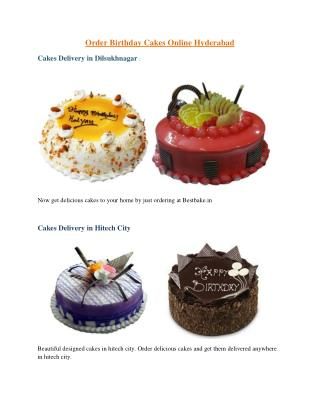 Order Birthday Cakes Online Hyderabad