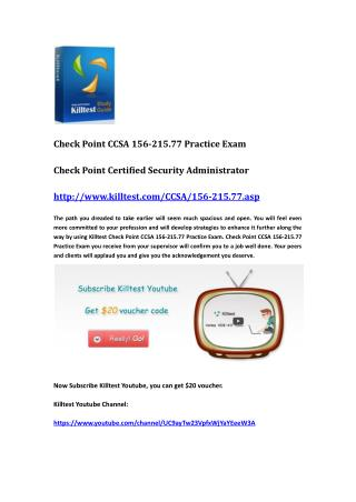 Check Point Certification 156-215.77 Questions and Answers