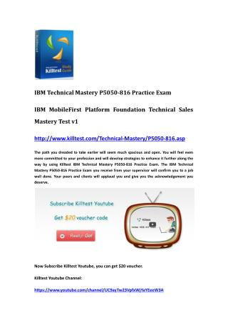 IBM Certification P5050-816 Questions and Answers