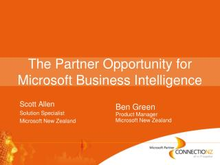 The Partner Opportunity for Microsoft Business Intelligence