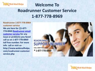 $#1-877-778-8969$ Roadrunner email customer service
