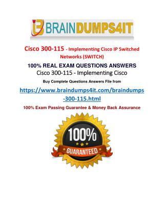 300-115 BrainDumps