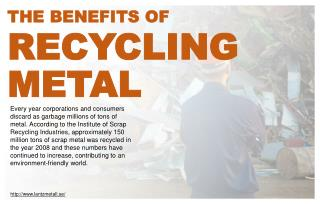 What Are The Benefits Of Recycling Scrap Metal Products