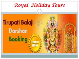 Tirupati balaji Darshan Package & Booking online