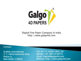 Digital Print Paper — Galgo4d Papers