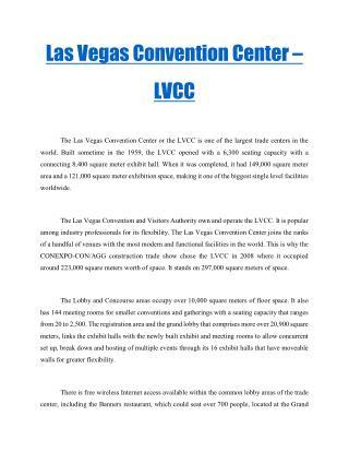 Las Vegas Convention Center – LVCC