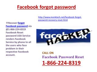 Facebook Password Recovery @1-866-224-8319 Helpdesk- An Immediate Means to Get Your Facebook account