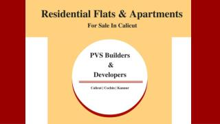 Residential flats & apartments for sale in calicut