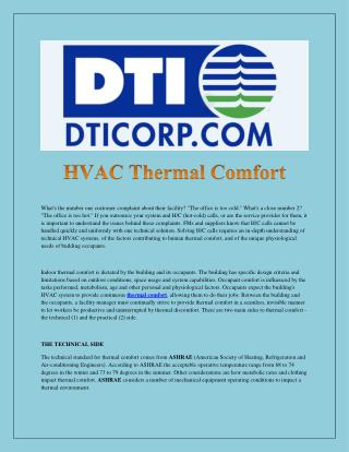 HVAC Thermal Comfort