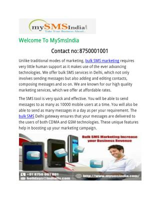 Get More Benefits from our Bulk SMS Marketing Services