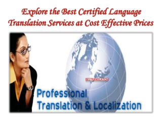 Explore the best certified language translation services at cost effective prices