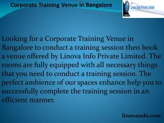 Corporate Training Venue in Bangalore