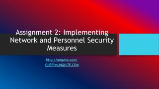 Assignment 2: Implementing Network and Personnel Security Measures
