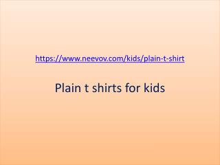 Kids Plain Navy Colour Tee Shirts