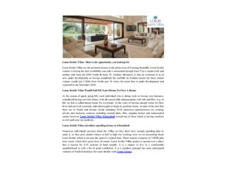 Lotus Srishti Villas– Here is the opportunity you looking for