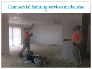 Commercial Painting services melbourne