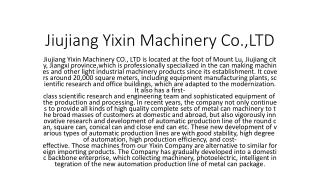Jiujiang Yixin Machinery Co.,LTD
