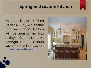 Springfield custom kitchen