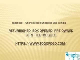 TogoFogo - Online Mobile Shopping in India