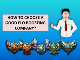 How to Choose a Good Elo Boosting Company ?