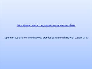 Superman Photo Printed Cotton T Shirts