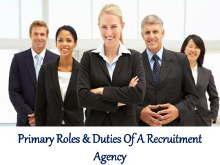 William Almonte Mahwah Patch | Primary Roles & Duties Of A Recruitment Agency