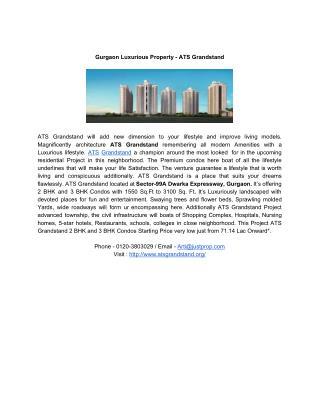 Gurgaon Luxurious Property -  ATS Grandstand