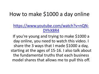 Make $1000 a day