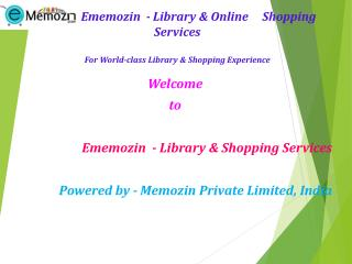 Online Books For Rent www.memozin.com