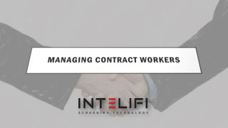 Managing Contract Workers