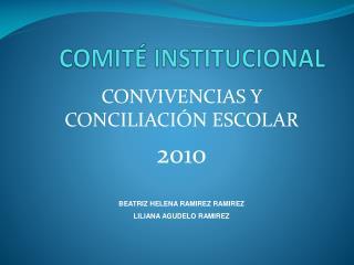 COMIT  INSTITUCIONAL
