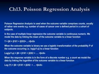 Ch13. Poisson Regression Analysis