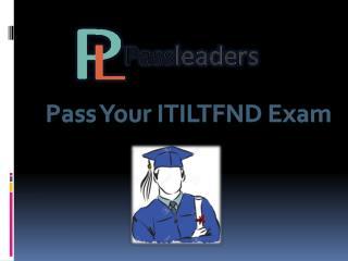Passleader ITILFND Pratice Test