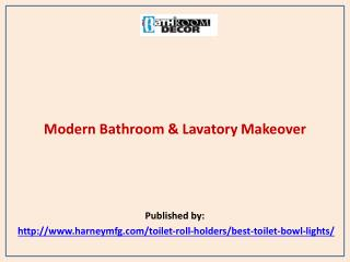 Modern Bathroom & Lavatory Makeover