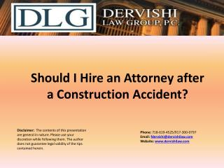 Should I Hire an Attorney after a Construction Accident?