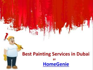 Best Painting Services in Dubai by Homegenie