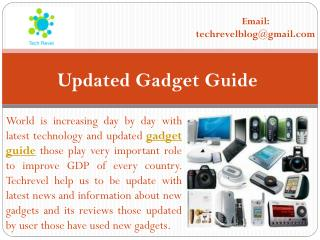 Ultimate Gadgets Guide and Tech Review 2016 at Tech Revel