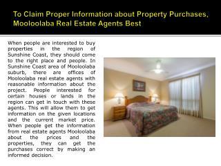 Mooloolaba Real Estate Agents