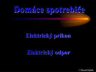 Elektrick  pr kon