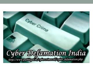 Cyber Defamation India