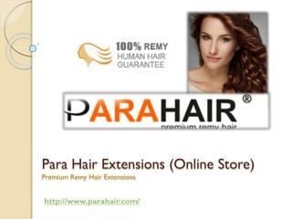 Exclusive and 100 % Human Hair Extensions Online