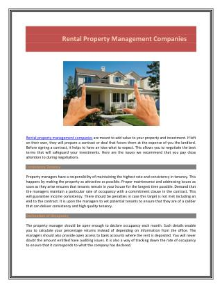 St Louis Rental Property Management