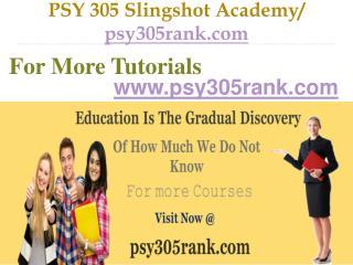 PSY 305  Slingshot Academy / psy305rank.com