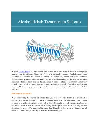 Alcohol Rehab Treatment